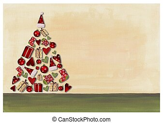 Christmas card - Colorful graphic illustration