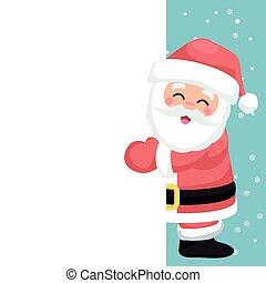 Christmas card for dedication of happy Santa Claus