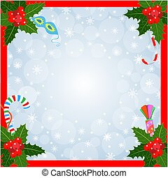 Christmas card frame background with an empty space for Christmas greetings.