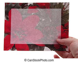 Christmas Card Hand