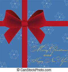 Christmas card invitation