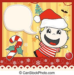 christmas card kid
