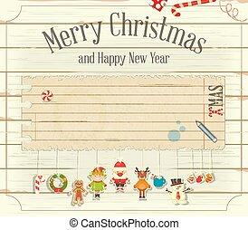 christmas joy note card white background