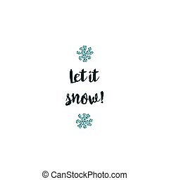 Christmas card on white background with blue elements and text
