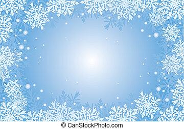christmas-card, płatki śniegu, backgroun