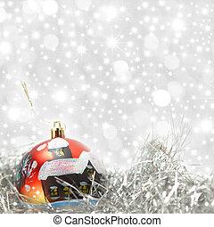 Christmas card red ball