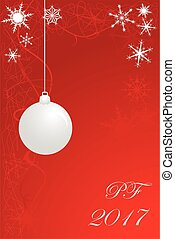 Christmas card Red