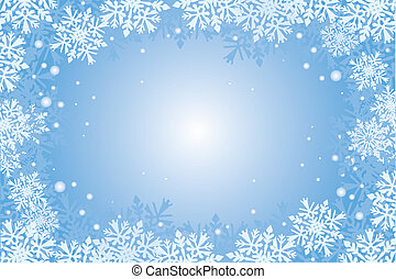 christmas-card snowflakes background