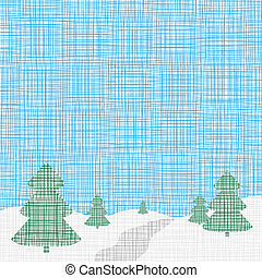 Christmas card template. Vector. Background. Linen, folk,...