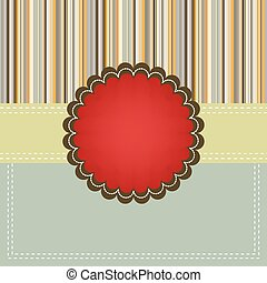 Christmas card template with copyspace. EPS 8 vector file...