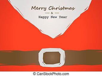 christmas card with Santa belt