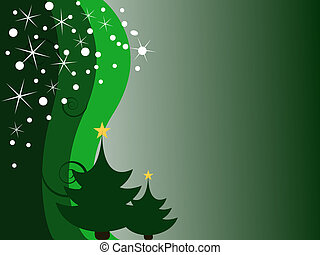 christmas card - vector illustration of a christmas trees on...
