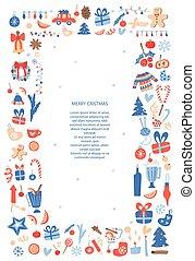 Christmas card vector template