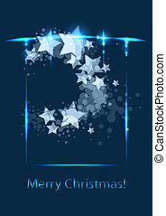 Christmas card, vector template