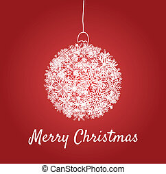 Christmas card with a ball