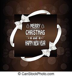 Christmas card with a bow