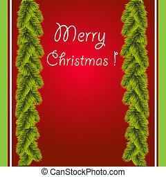 Christmas Card with a congratulatio