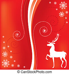 Christmas card with a deer