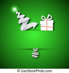 Christmas card with a gift Christma