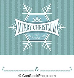 Christmas card with a snowflake