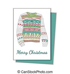 Christmas card with a sweater