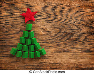 Christmas card with a tree shape