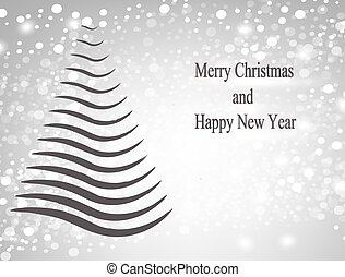 Christmas card with abstract tree