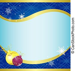 christmas card with blue pattern - vector