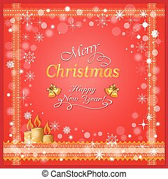 christmas card with candles