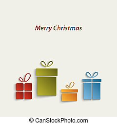 Christmas card with colorful gifts