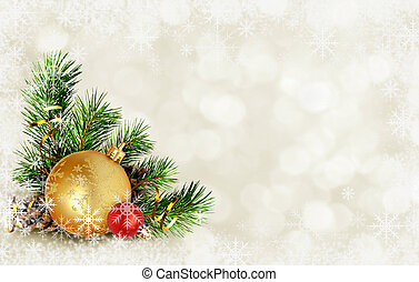 Christmas card with corner composition