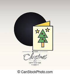 Christmas card with creative elegant design and light background vector