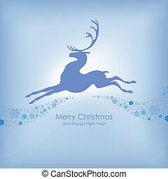 Christmas card with deer
