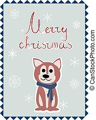 Christmas card with dog