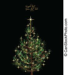Christmas card with fir-tree. Vector - Christmas background...