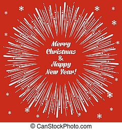 Christmas card with firecracker