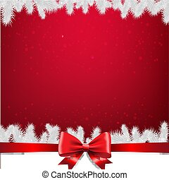 Christmas Card With Firtree Border