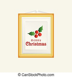 Christmas card with frame