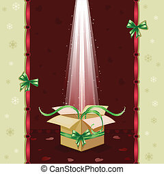 Christmas card with gift box - Christmas card with gifts box...