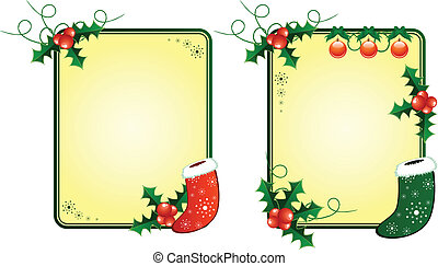 Christmas card with gift socks