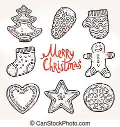 Christmas Card With Gingerbreads