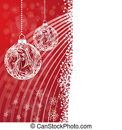 Christmas card with globe