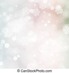 Christmas card with glowing snowflakes and bokeh eps10