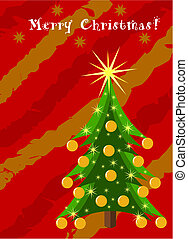 Christmas card with greetings