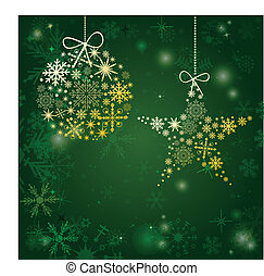 Christmas card with holiday elements.