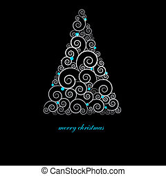 Christmas card with holiday elements. - Christmas card with...