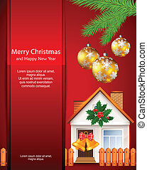 Christmas card with house