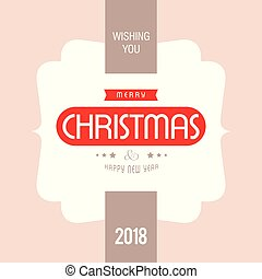 Christmas card with light background and typographic vector