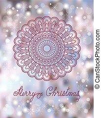 christmas card with mandala