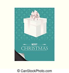 Christmas card with pattern background vector